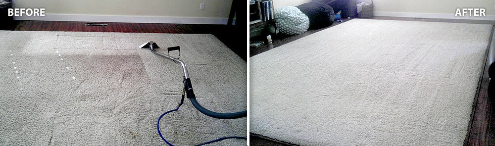 before after carpet cleaning job in San Francisco & Bay area | GCD Restoration