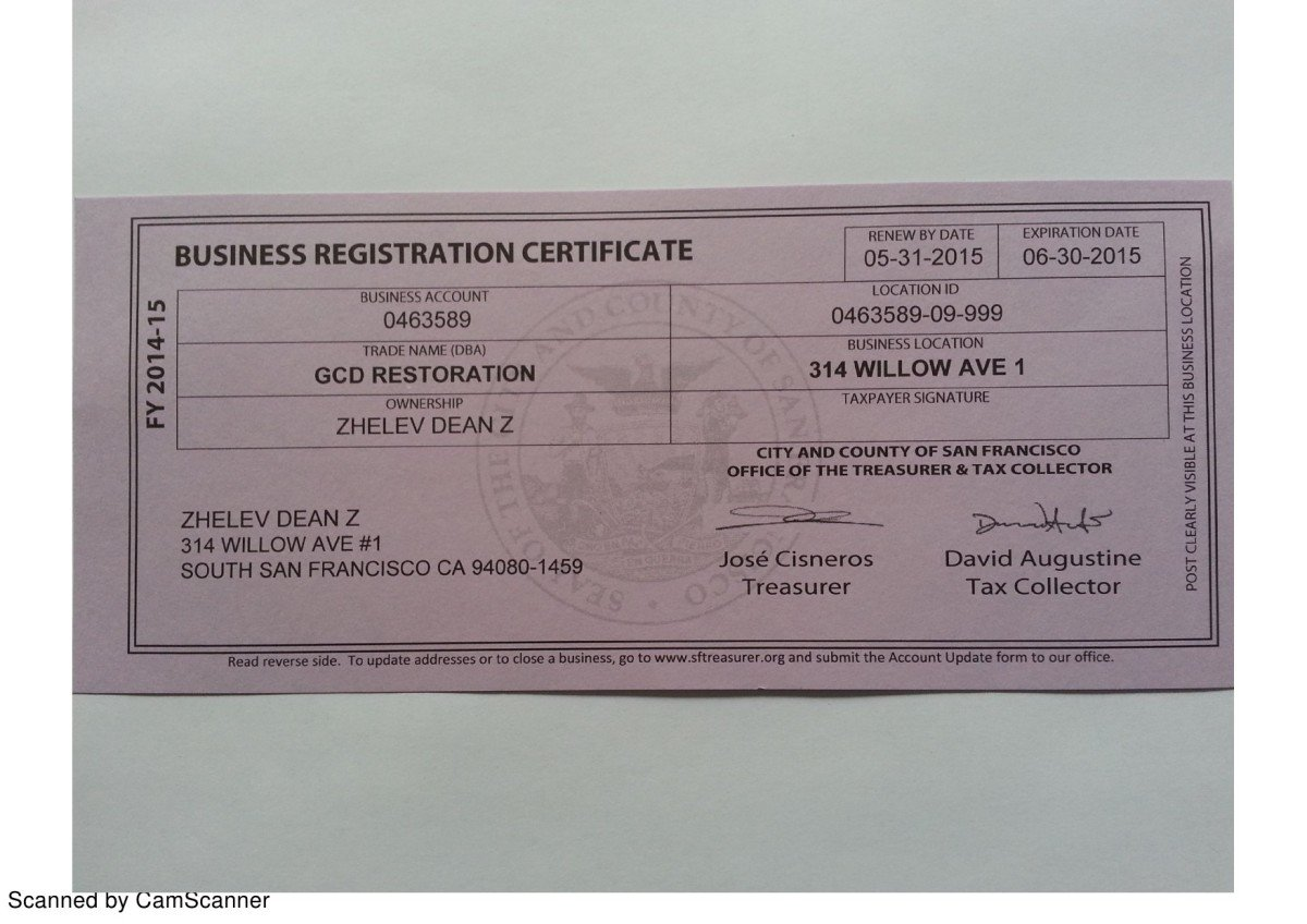 GCD Restoration Accredited Business Certificates
